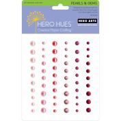 Hero Arts 461225 Hero Hues Adhesive Pearls& Gems 60-Pkg-Blush Mixed