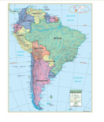 Universal Map 28553 South America Essential Wall Map-Roller