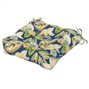 Greendale Home Fashions OC4800-Marlow 20 in. Outdoor Chair Cushion Blue Floral