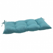Pillow Perfect 507064 Outdoor Forsyth Tufted Loveseat Cushion in Turquoise - Turquoise
