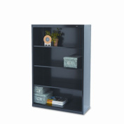 Tennsco Corporation B-53BK Welded Bookcase, 90cm - 1.3cm Width x 130cm Height x 33cm Length, 4 Shelves, Black