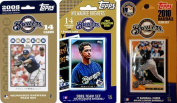 C & I Collectables BREWERS3TS MLB Milwaukee Brewers 3 Different Licenced Trading Card Team Sets