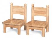 Jonti-Craft 8947JC2 Jonti-Craft Wooden Chair Pairs- 7 inch Seat Height