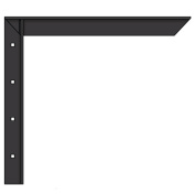 A & M Hardware AMC12 B Concealed Shelf Sprt Bracket 30.5cm . - Black