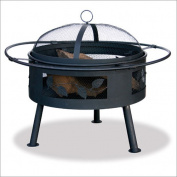 Uniflame WAD992SP 21.6 Wide Aged Bronze Firebowl with Leaf Design