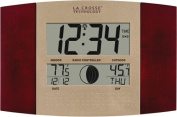 La Crosse Technology WS-8117U-IT-C Atomic Digital Wall Clock with Moon and IN-OUT Temp
