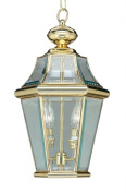 Livex 2265-02 Georgetown Outdoor Light- Polished Brass