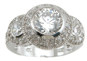 Plutus kkr5824a 925 Sterling Silver Rhodium Finish Antique Style Wedding Ring Size 6