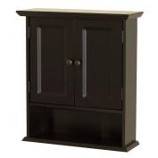 Zenna Home 9918CHA, Collette Wall Cabinet, Espresso