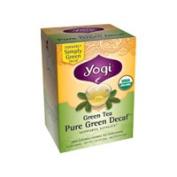 Yogi Tea Green Tea contains caffeine Pure Green Certified Organic Decaffeinated 16 tea bags 214332