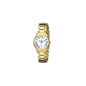 Charles-Hubert Paris 6897-G Womens Gold-Plated Stainless Steel White Dial Quartz Watch