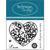 Technique Tuesday 488475 Technique Tuesday Clear Stamps 5.1cm . x 6.4cm . -Love Makes The World Go Round