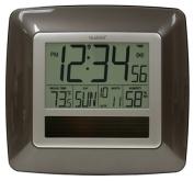 La Crosse Technology WT-8112U Solar Atomic Digital Wall Clock with Indoor Temp-Humidity