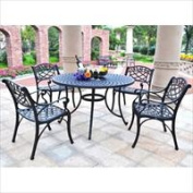 Modern Marketing KOD6001BK Sedona 48 in. Five Piece Cast Aluminum Outdoor Dining Set with Arm Chairs in Black Finish