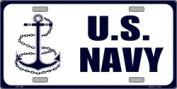 LP - 123 US Navy Anchor Licence Plate - 595