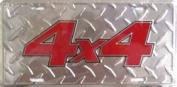 LP - 227 4 X 4 Diamond Plate Licence Plate - 2612