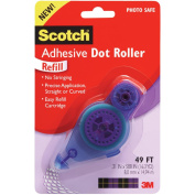 Scotch Adhesive Dot Roller Refill-.80cm X49', For Use In 55
