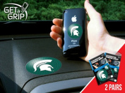 Fanmats 13059 COL - small 3.8cm . - large 7.6cm . - Michigan State University Get a Grip 2 Pack