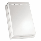 Natico Originals 30-418 Note Pad With Cover Silver