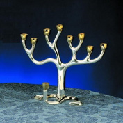 Rite Lite M-TREE-MED-T Medium Tree of Life Menorah - Silver Plated With Gold-Tone Cups