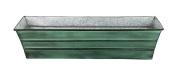 Achla Designs Planters & Pottery 60cm . W x 15cm . D x 13cm . H Galvanised Tin Window Box Green Patina C-08