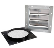 Broan 441 Steel - Aluminium Wall Cap with Gravity Damper for 25.4cm . Round Duct