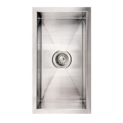 Whitehaus Collection WINEHAUS 30.5cm . Noahs Collection commercial Winehaus single bowl undermount sink- Brushed Stainless Steel