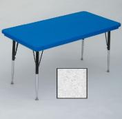 Correll Ar3060-Rec-23 Rectangular Blow-Molded Activity Tables - Standard Legs - Grey Granite