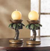 SWM 36006 Coconut Tree Candleholders