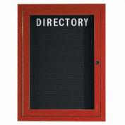 Aarco Products OADCW3624R 1-Door Outdoor Enclosed Aluminum Directory Cabinet - Cherry