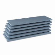 Tennsco 6Q24818MGY Industrial Steel Shelving for 87 High Posts 48w x18d Medium Gray 6/carton