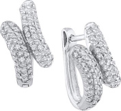 Gold and Diamonds FER3062-W 0.50CT-DIA FASHION EARRINGS- Size 7