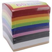 Fibre Craft 1593259 Peel & Stick Foam Sheets 5.9X4.43 65/Pkg
