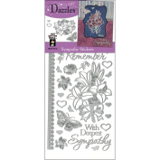 Hot Off The Press DAZ-2118 Dazzles Stickers -Sympathy Silver