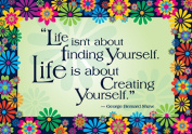 Barker Creek and Lasting Lessons BCP1800 Life Is About Creating Yourself Poster