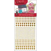 Hot Off The Press DAZ-1556 Dazzles Stickers -540 Gold Jewel
