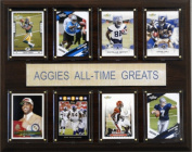 C & I Collectables 1215ATGTAM NCAA Football Texas A & M Aggies All-Time Greats Plaque
