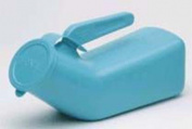 Complete Medical 7161 Male Urinal Translucent Reusable Autoclavable Blue Cap