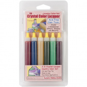 3D Crystal Lacquer Colour Pens 6/Pkg-Country .150ml