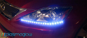 PlasmaGlow 10921 Breathing Lightning Eyes LED Headlight Kit - RED