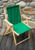 Blue Ridge Chair Works DFCH05WF Highlands Deck Chair - Forest Green