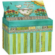 Artisan Recipe Card Box with Recipe Cards, Colour My World