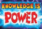 Trend Enterprises Inc. T-A67398 Knowledge Is Power Poster