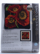 Red Poppy Trio Needlepoint Kit-36cm x 36cm Stitched In Wool & Thread