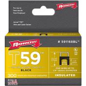 Arrow Fastener Co. .60cm . X .60cm . Black T59 Staples 591168BL