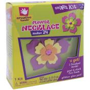 Fibre Craft 50002 Foam Kit Makes 24 Flower Necklace