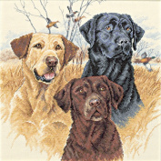 """Dimensions """"Great Hunting Dogs"""" Counted Cross Stitch Kit, 30cm x 30cm"""