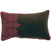 Surya P0130-1320P 13 in. x 20 in. Poly-Filler Decorative Pillow - Brown-Fuchsia