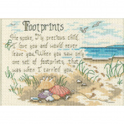 "Dimensions Jiffy ""He Spoke"" Mini Counted Cross Stitch Kit, 18cm x 13cm"