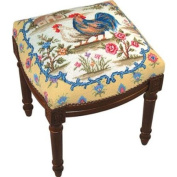 123 Creations C233FS Country Rooster Needlepoint Stool